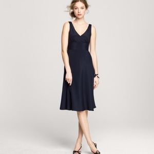 J. Crew |  Sophia Silk Little Black Dress